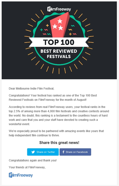 melbourne indie film festival top100 best filmfreeway